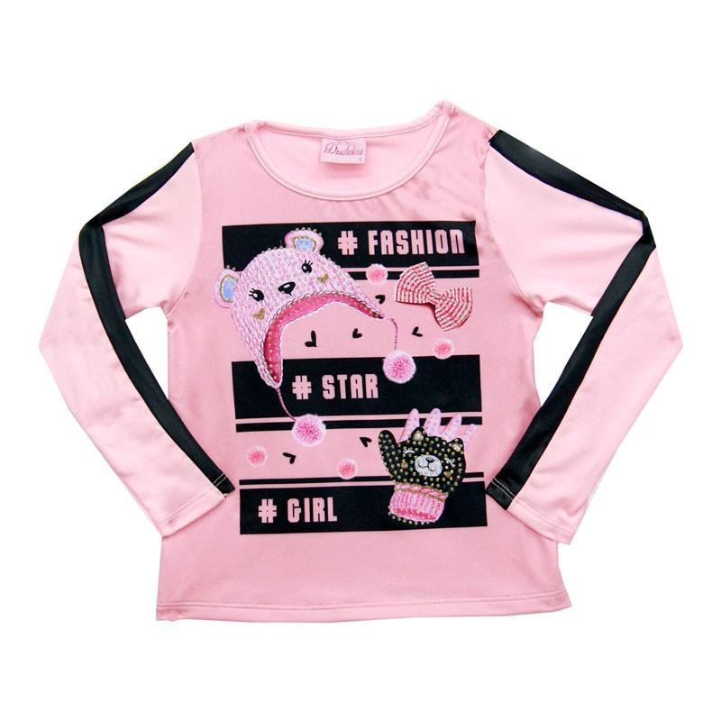 Blusa Duduka Infantil Menina Rosa