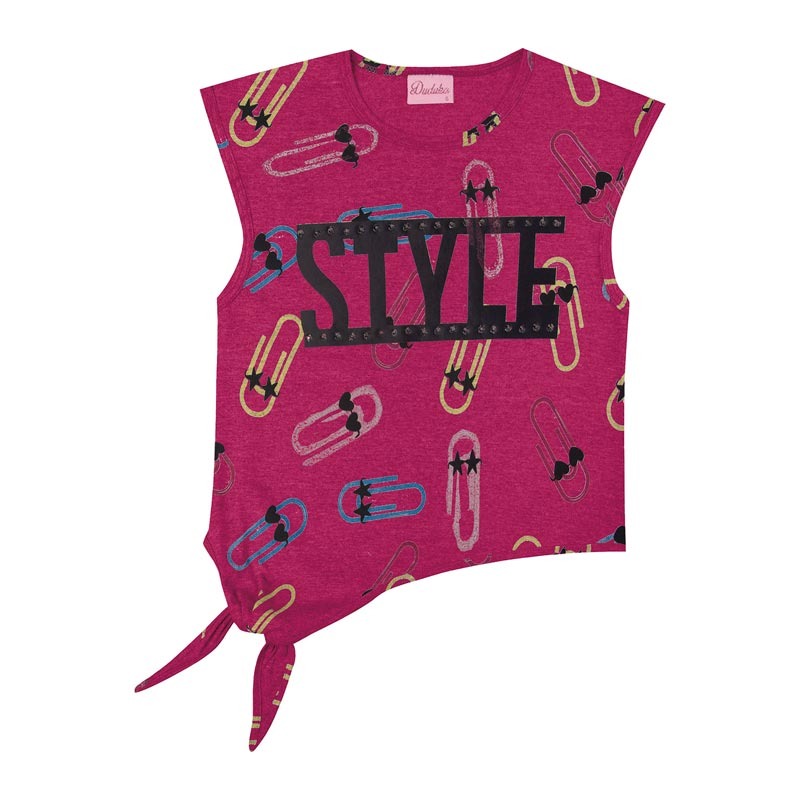 Blusa Duduka Infantil Menina Style Rosa