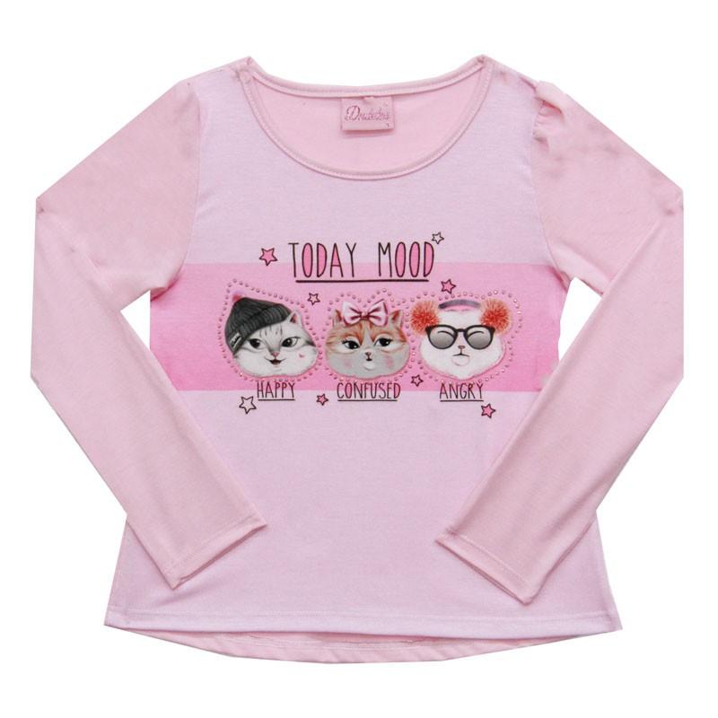 Blusa Duduka Infantil Menina Today Mood Rosa