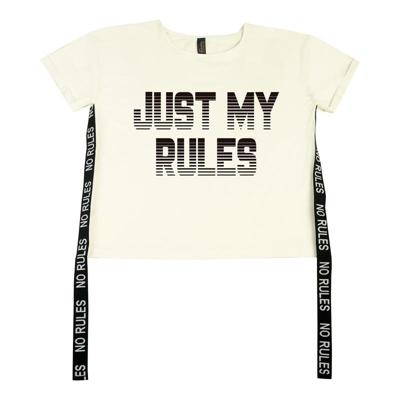 Blusa Duduka Juvenil Menina Just My Rules Bege