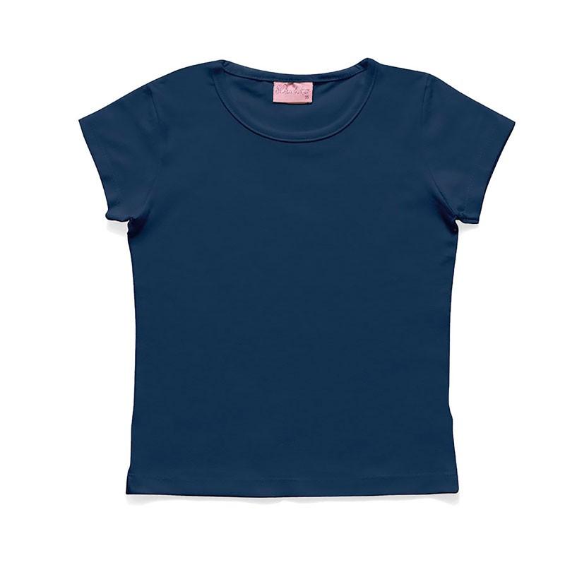 Blusa Duduka Infantil Menina Básica Azul