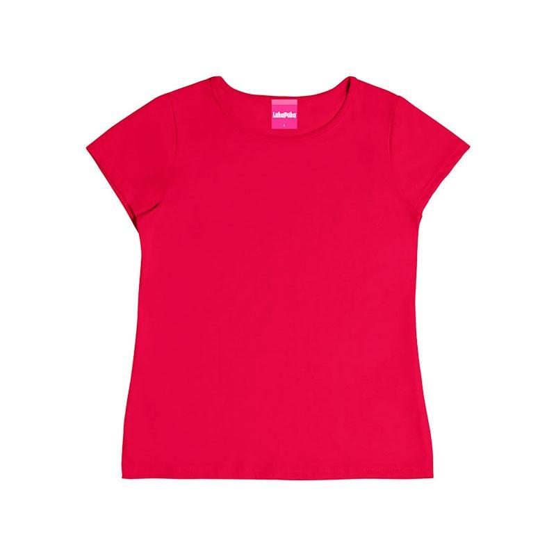 Blusa Infantil Menina Básica Rosa