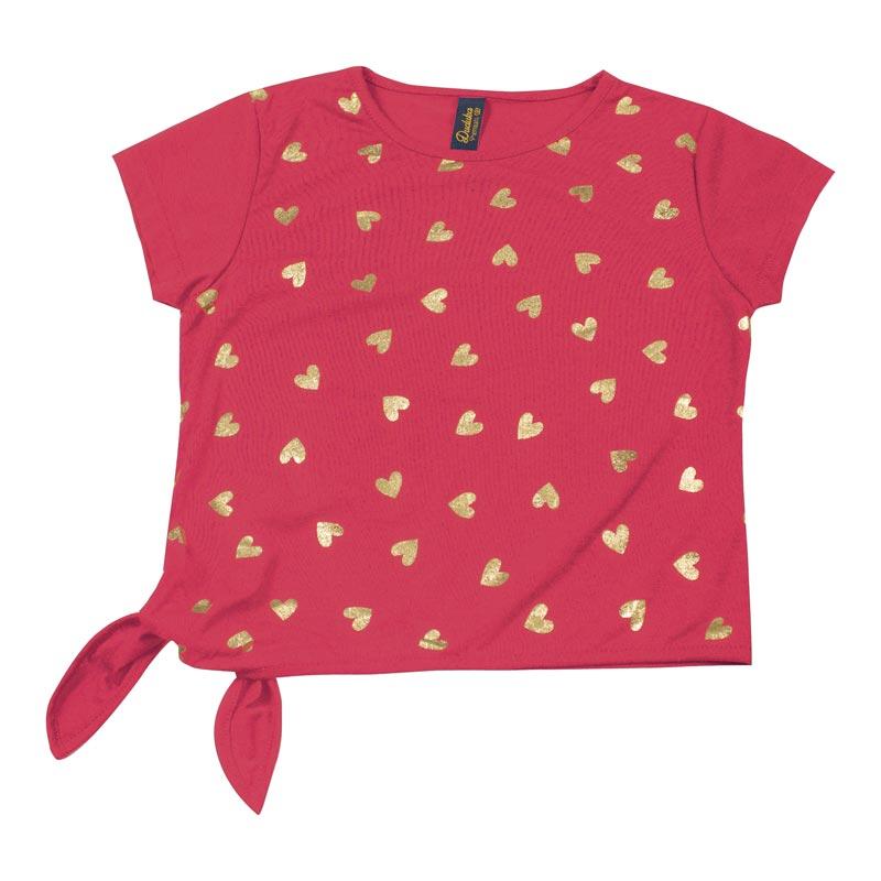 Blusa Infantil Menina Coração Rosa
