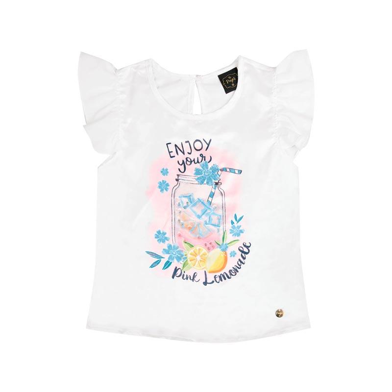 Blusa Infantil Menina Enjoy Branco