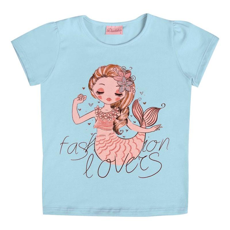 Blusa Infantil Menina Fashion Lovers Azul