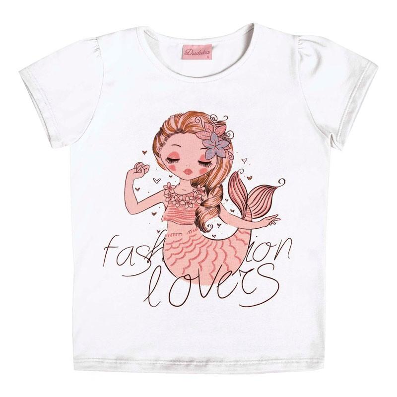Blusa Infantil Menina Fashion Lovers Branco