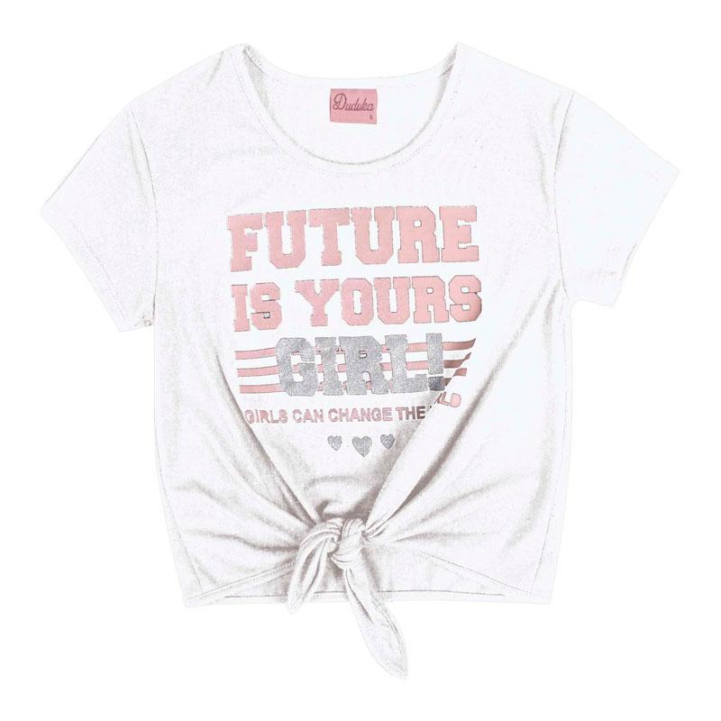 Blusa Infantil Menina Future Branco