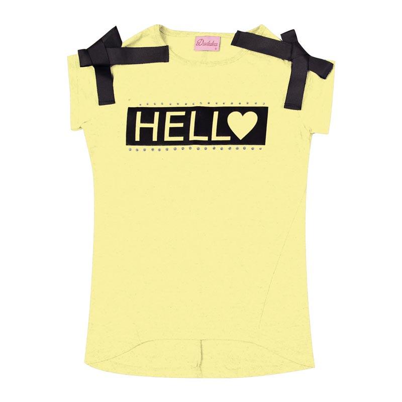 Blusa Infantil Menina Hello Amarelo
