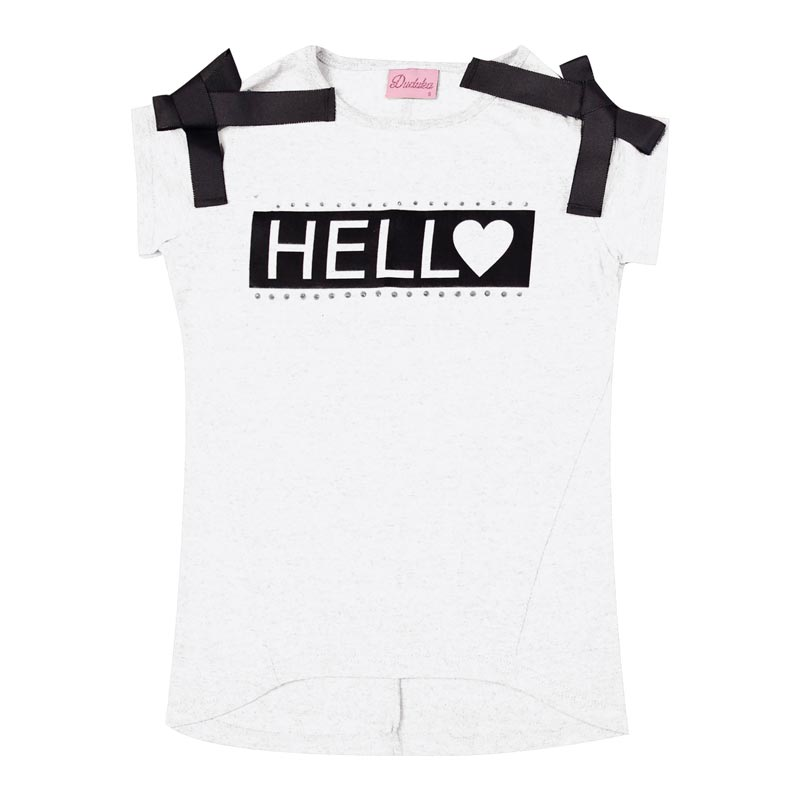Blusa Infantil Menina Hello Branco