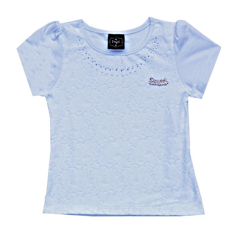 Blusa Infantil Menina Renda Azul