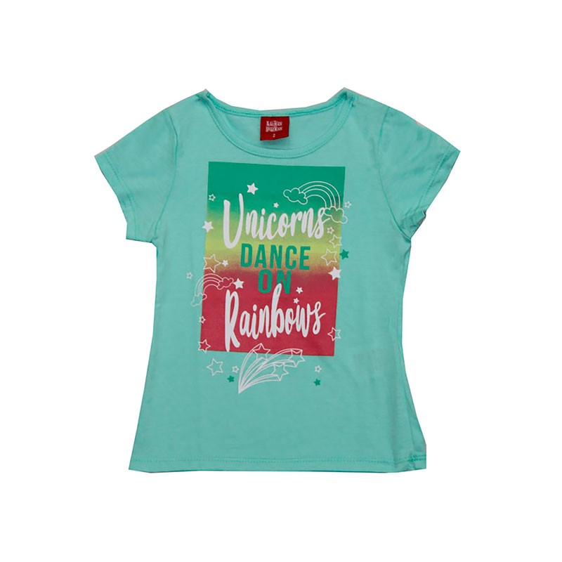 Blusa Infantil Menina Unicorns Verde