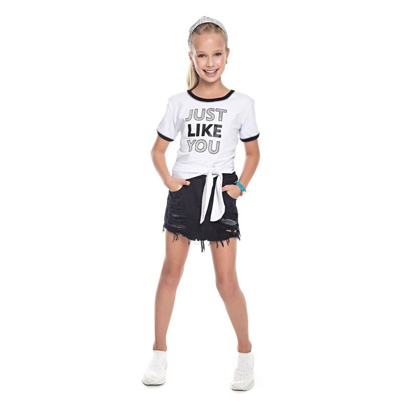 Blusa Juvenil Menina Amarração Branco