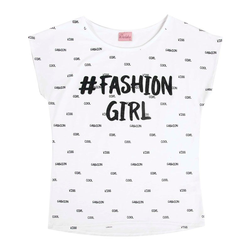 Blusa Juvenil Menina Fashion Girl Branco