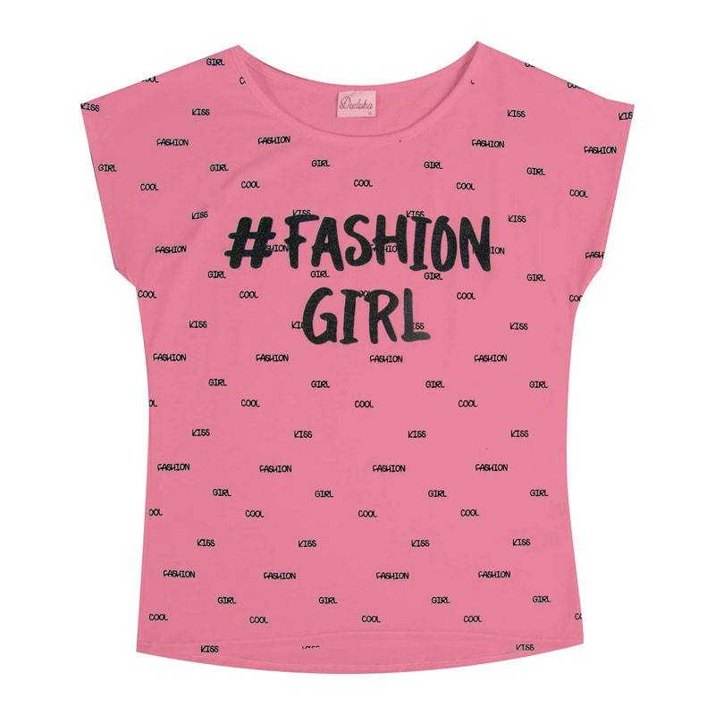 Blusa Juvenil Menina Fashion Girl Rosa