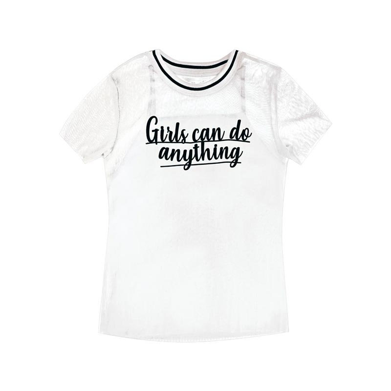 Blusa Juvenil Menina Girls Branco