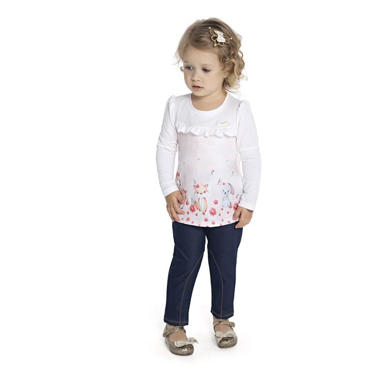 Blusa Paytê Infantil Menina Branco