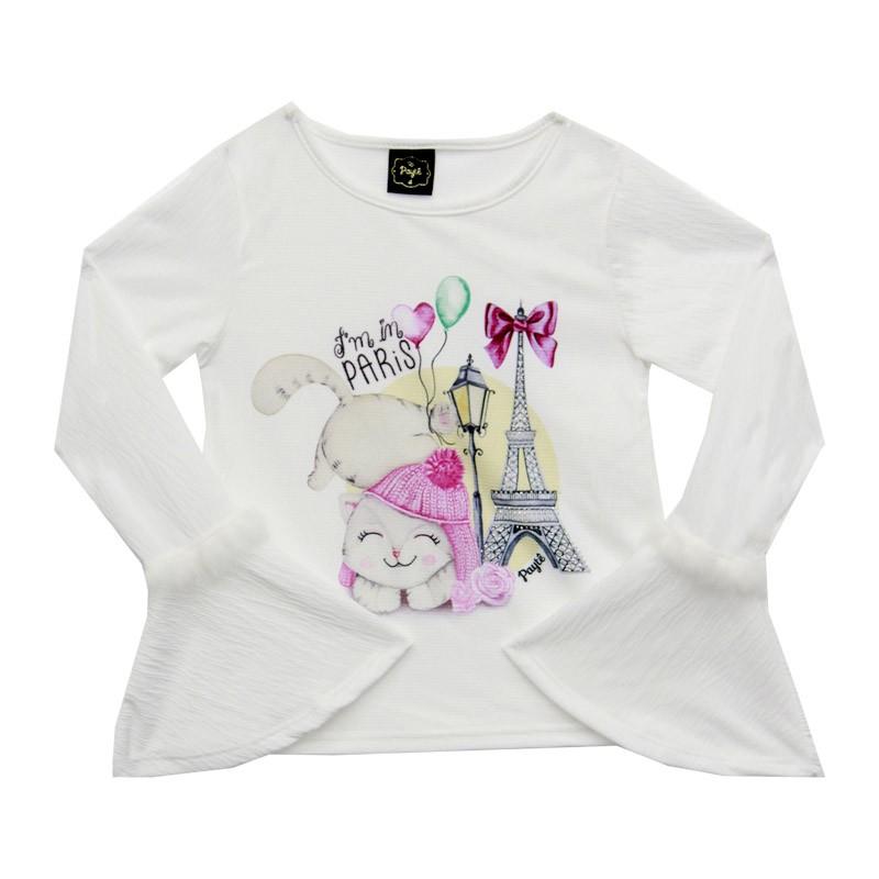 Blusa Infantil Feminina París - Paytê