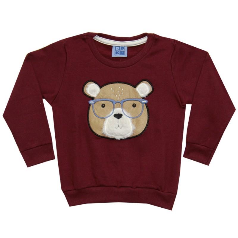 Blusão DDK Infantil Menino Urso Bordô