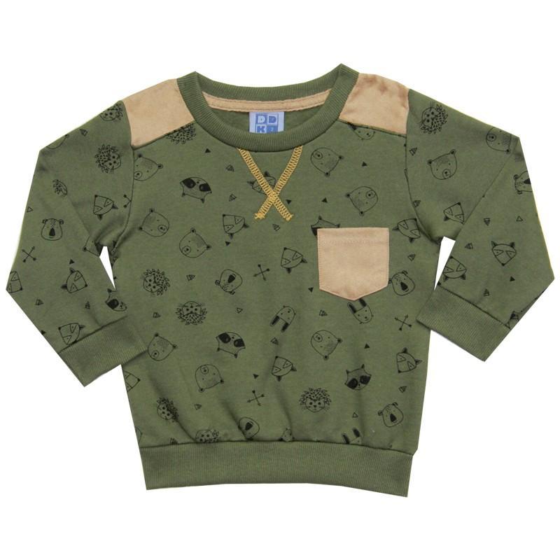 Blusão DDK Infantil Menino com Bolso Verde