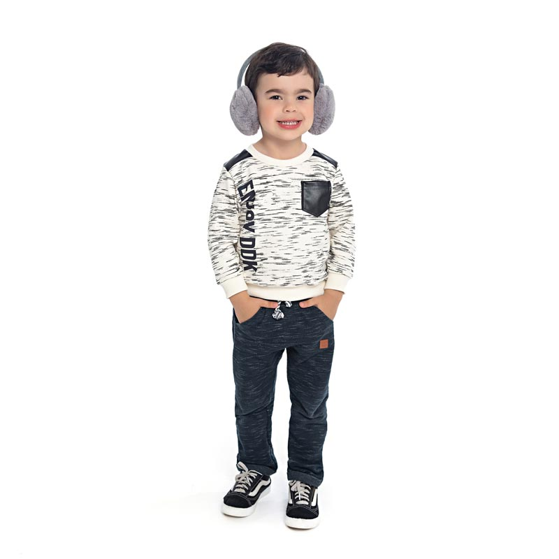 Blusão DDK Infantil Menino Enjoy DDK Cinza