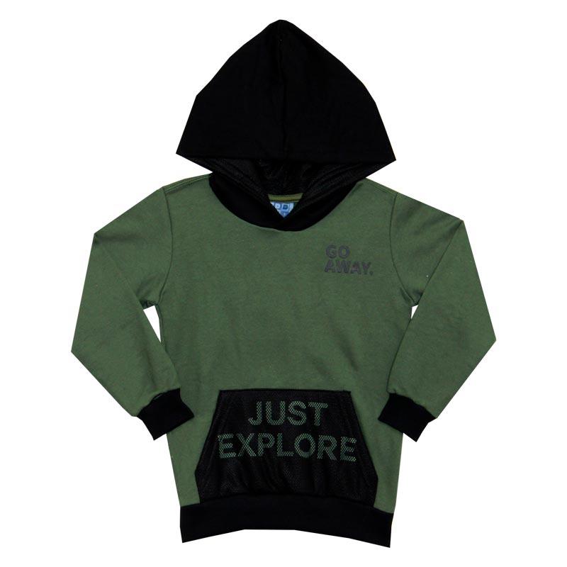 Blusão DDK Infantil Menino Just Explore Verde