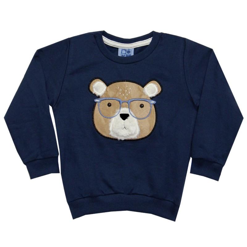 Blusão DDK Infantil Menino Urso Azul