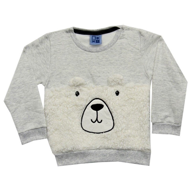 Blusão DDK Infantil Menino Urso Cinza