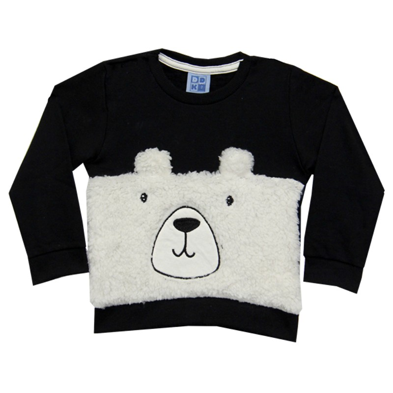Blusão DDK Infantil Menino Urso Preto