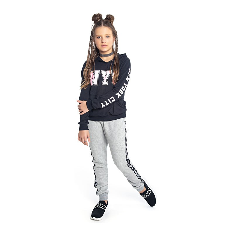 Blusão Duduka Juvenil Menina NYC Preto
