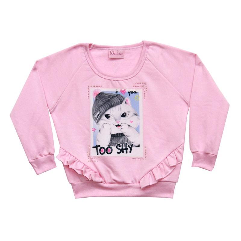 Blusão Duduka Infantil Menina Too Shy Rosa