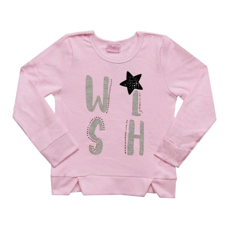 Blusão Duduka Infantil Menina WISH Rosa
