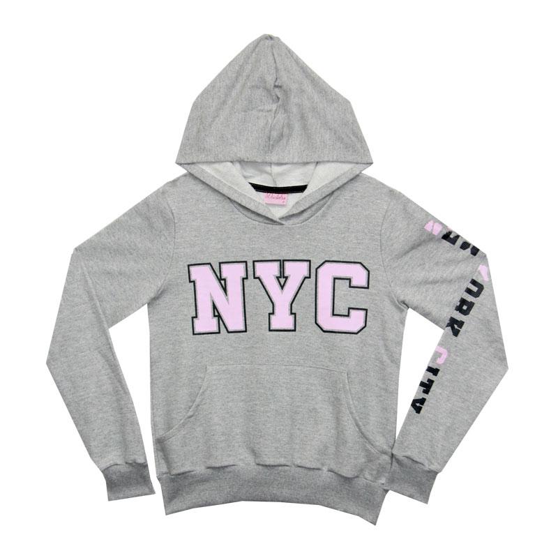 Blusão Duduka Juvenil Menina NYC Cinza