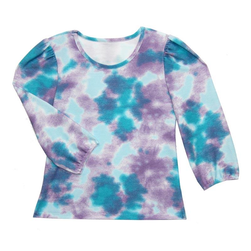 Blusão Feminina Adulto Tie Dye Azul