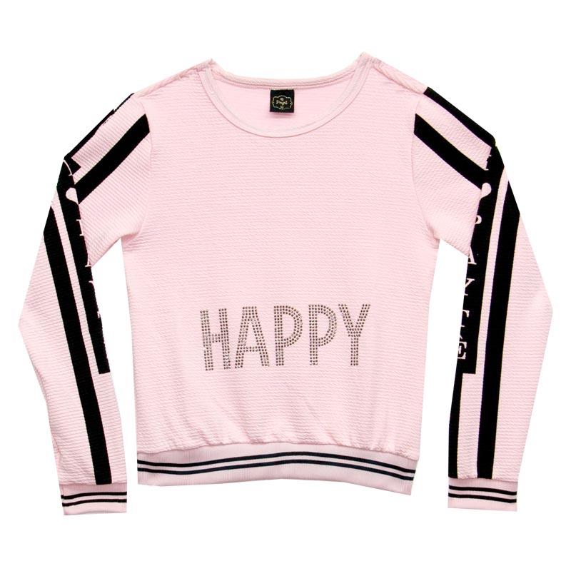 Blusão Paytê Juvenil Menina Happy Rosa