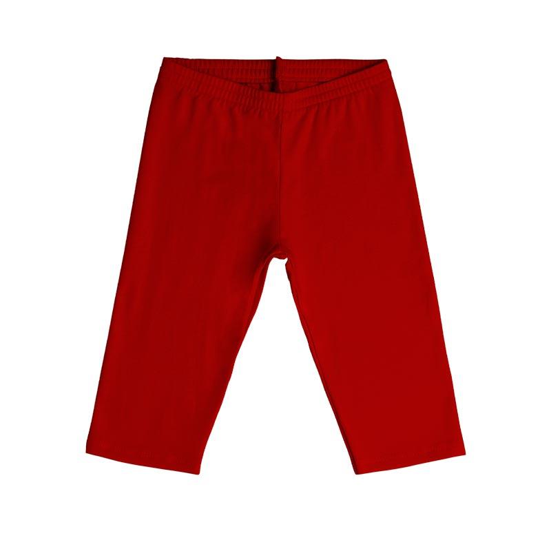 Calça Capri Infantil Menina Vermelho