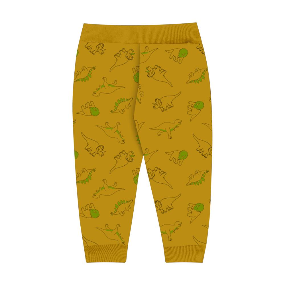 Calça DDK Infantil Menino Dinossauro Amarelo