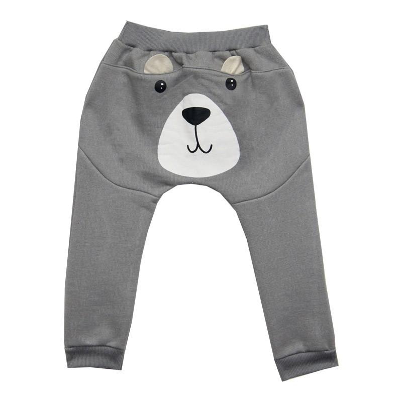 Calça DDK Infantil Menino Urso Cinza