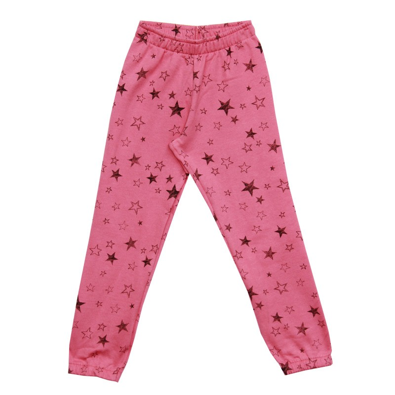 Calça Duduka Infantil Menina Estrelas Rosa