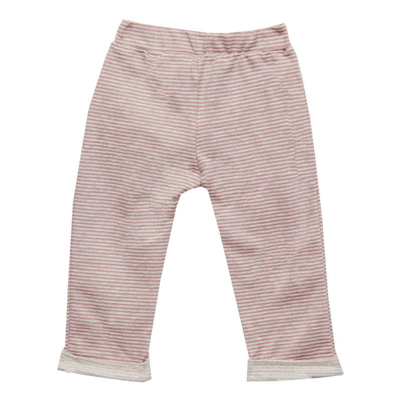 Calça Duduka Infantil Menina Listrada Rosa