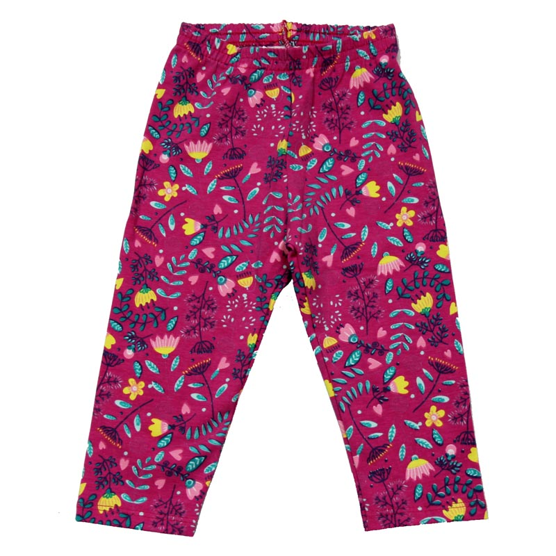 Calça Legging Infantil Menina Estampado Rosa