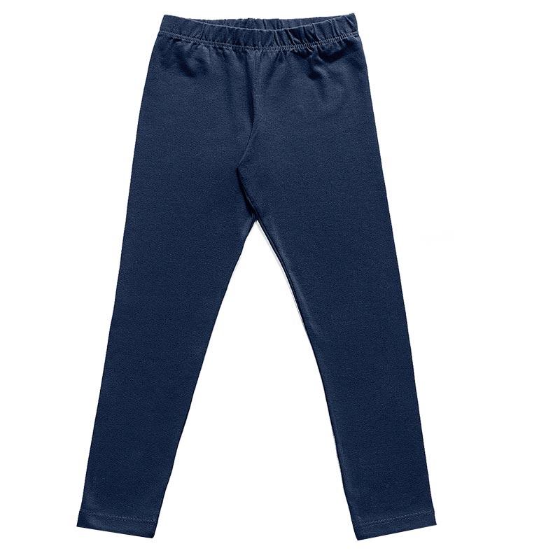 Calça Legging Infantil Menina Lisa Azul