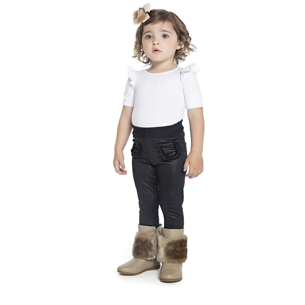 Calça Legging Paytê Infantil Menina Preto