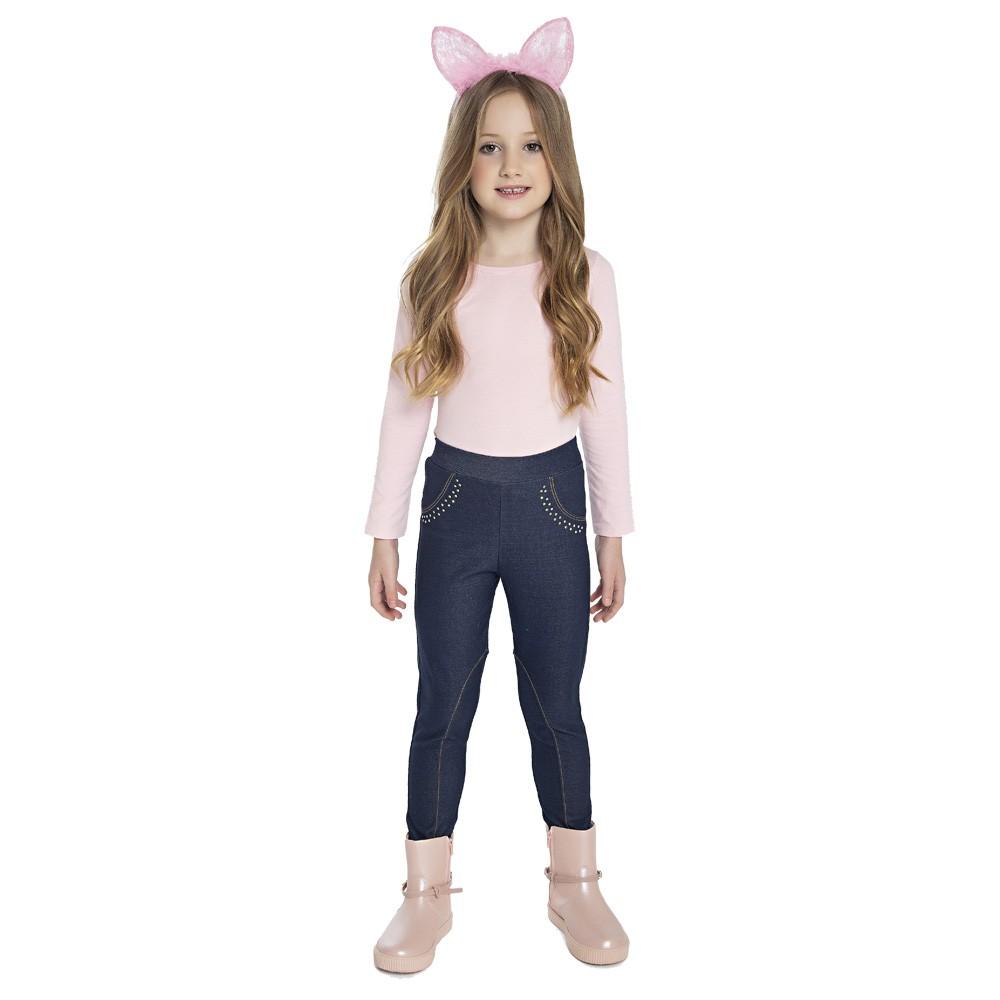 Calça Paytê Montaria Infantil Menina Azul