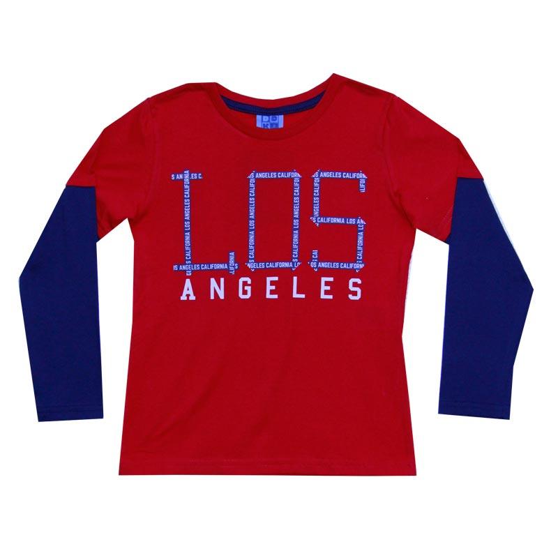 Camiseta0 DDK Infantil Menino Los Angeles Vermelho