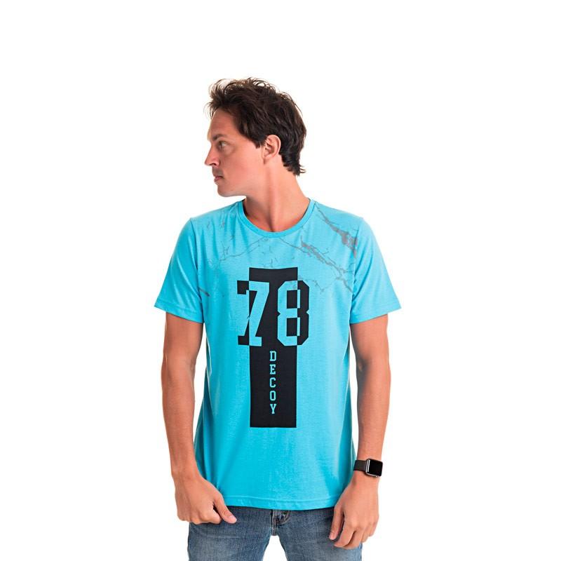 Camiseta Adulto Masculina 78 Azul