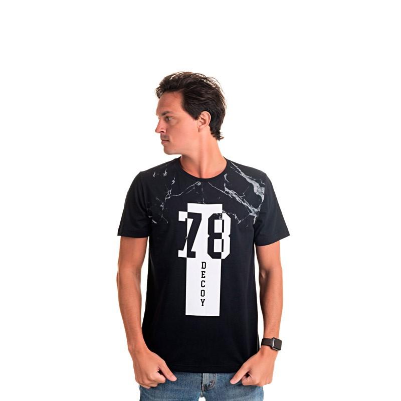 Camiseta Adulto Masculina 78 Preto