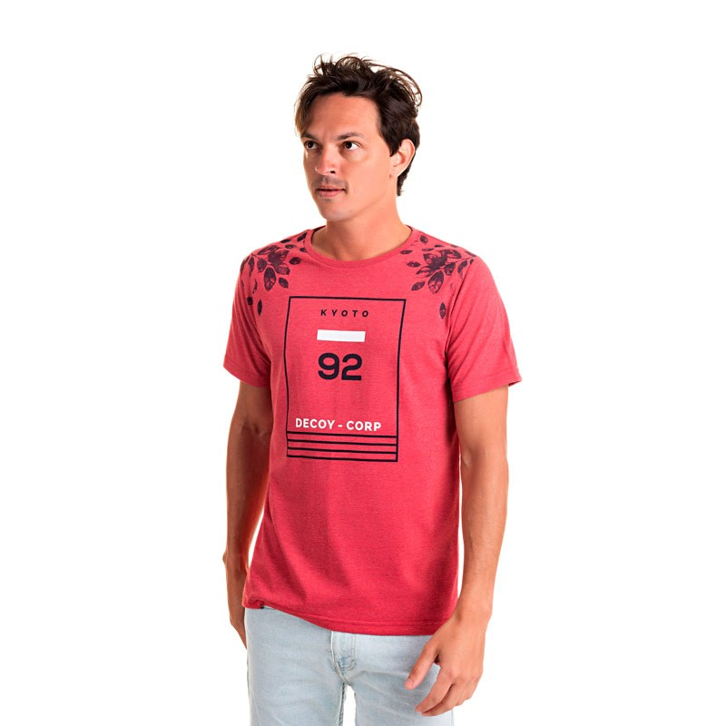 Camiseta Adulto Masculina 92 Vermelho