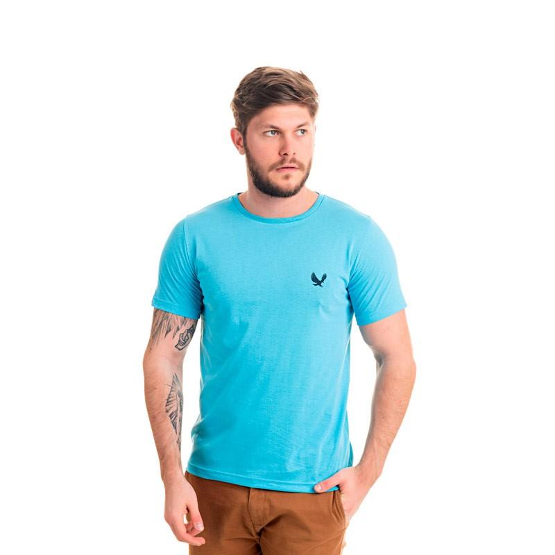 Camiseta Adulto Masculina Básica Azul