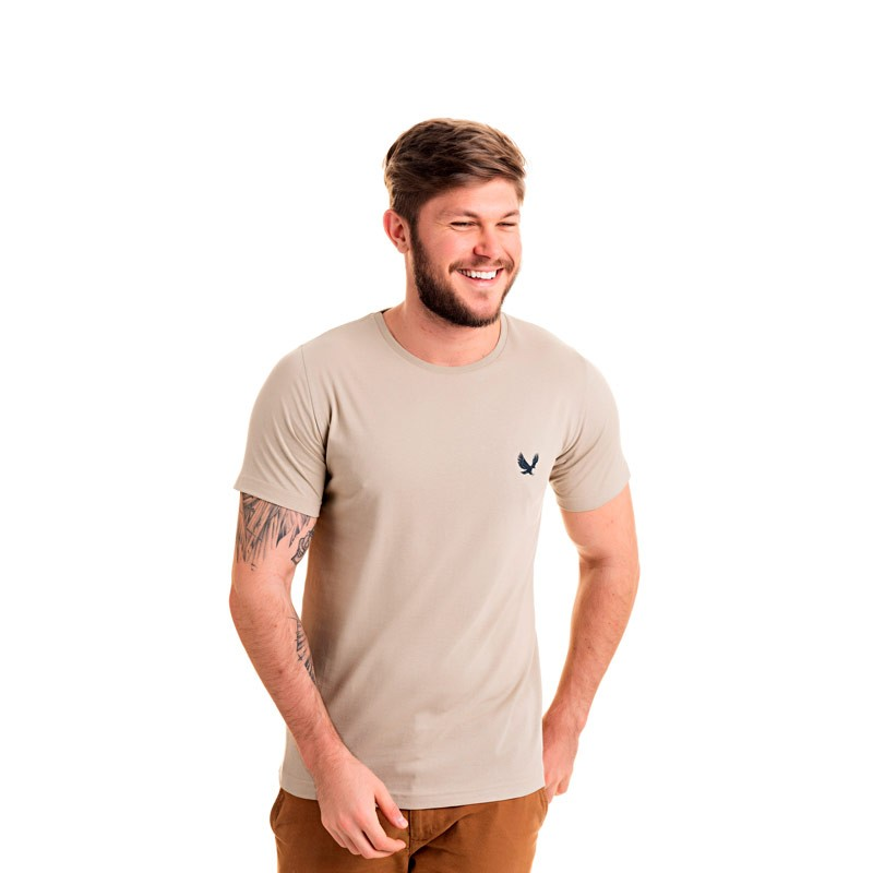 Camiseta Decoy Adulto Masculina Básica Bege
