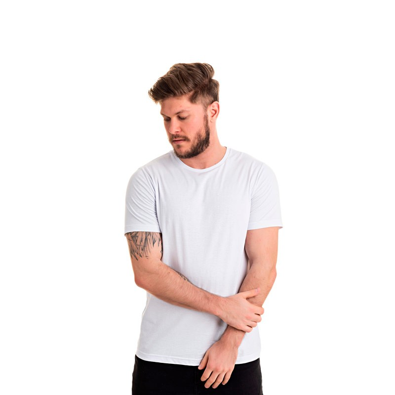 Camiseta Adulto Masculina Básica Branco